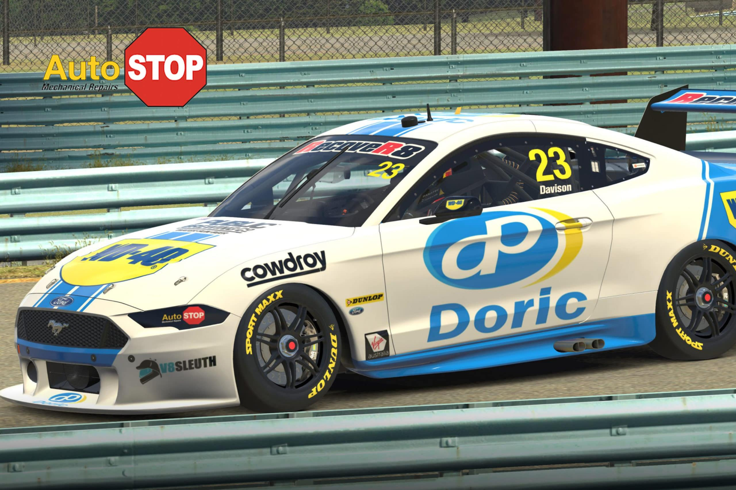 Will Davison eSeries Doric Ford Mustang Sponsored by Auto Stop